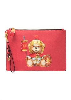 Moschino Eco Leather Teddy Bear Wrist Pouch