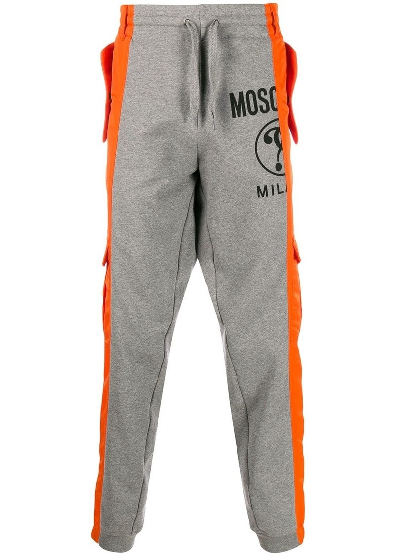 Moschino elasticated-waist hybrid trousers