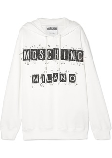 Moschino Embellished Cotton-jersey Hoodie