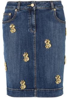 Moschino Embellished Denim Skirt