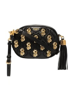 Moschino embellished leather cross-body bag