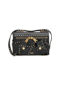 Moschino Embellished Leather Shoulder Bag