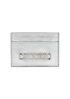 Moschino embellished logo plaque card holder