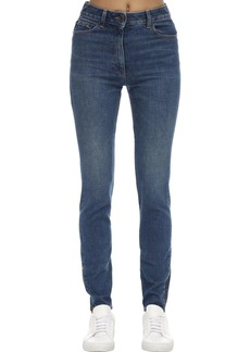Moschino Embellished Stretch Denim Skinny Jeans