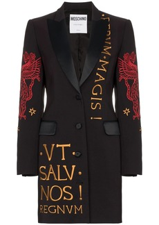 Moschino embroidered blazer dress