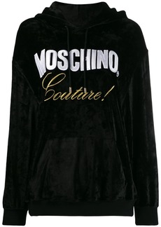 Moschino embroidered couture hoodie