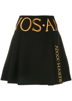 Moschino embroidered logo a-line skirt