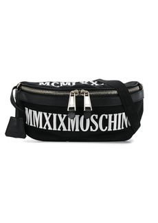 Moschino embroidered logo belt bag