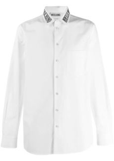 Moschino embroidered logo collar shirt
