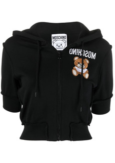 Moschino embroidered-logo short-sleeve hoodie