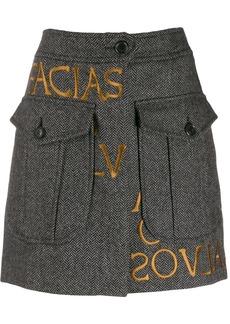 Moschino embroidered logo skirt