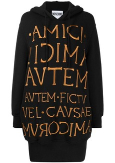 Moschino embroidered logo sweat dress