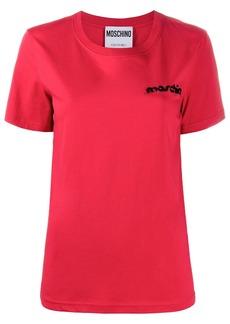 Moschino embroidered logo T-shirt