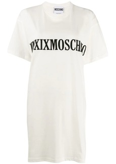 Moschino embroidered logo T-shirt dress