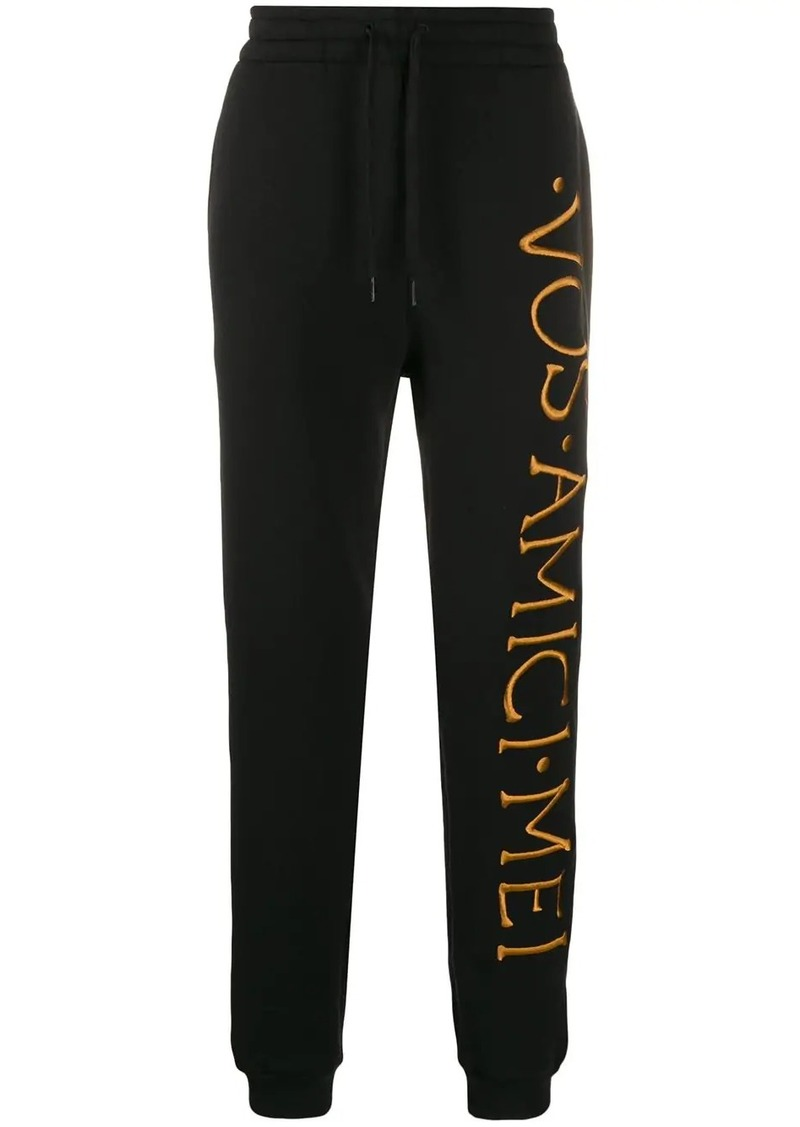 Moschino embroidered logo track pants