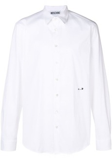 Moschino embroidered safety-pin shirt