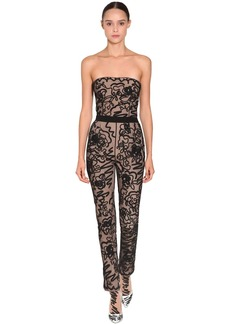 Moschino Embroidered Sheer Tulle Jumpsuit