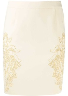 Moschino embroidered skirt