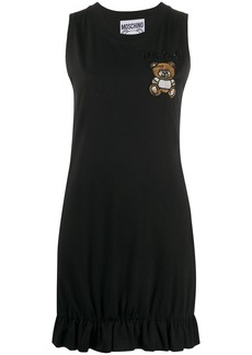 Moschino embroidered Teddy Bear sleeveless dress