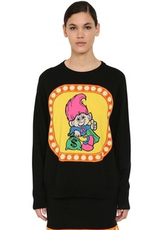 Moschino Embroidered Virgin Wool Knit Sweater
