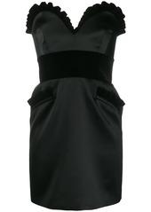 Moschino enver satin bustier dress