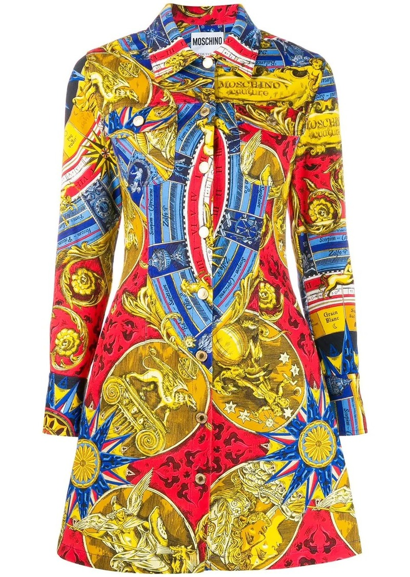 Moschino fantasy print shirt dress