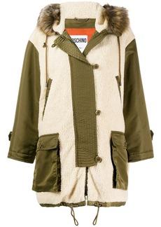Moschino faux-shearling parka coat