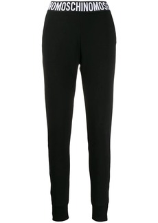 Moschino fitted logo track pants