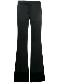 Moschino high-rise flared trousers