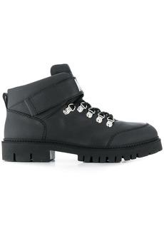 Moschino flat hiking boots