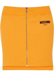 Moschino Flocked Cotton-jersey Mini Skirt