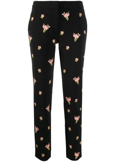 Moschino floral embroidery straight-leg trousers