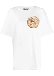 Moschino Fox stamped logo T-shirt