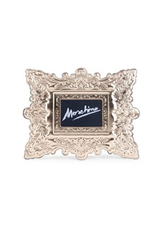 Moschino Frame Leather Clutch
