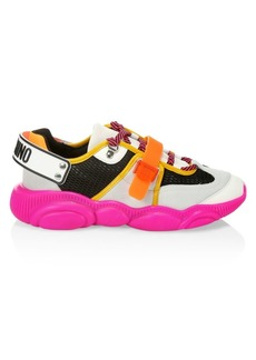 Moschino Fuxia Teddy Sneakers