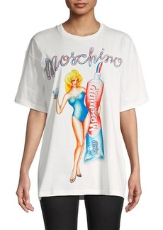 Moschino Game Show Tooth Fairy Graphic Oversized T-Shirt