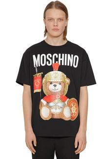 Moschino Gladiator Teddy Cotton Jersey T-shirt