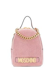 Moschino glitter-effect logo backpack