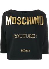 Moschino gold printed T-shirt