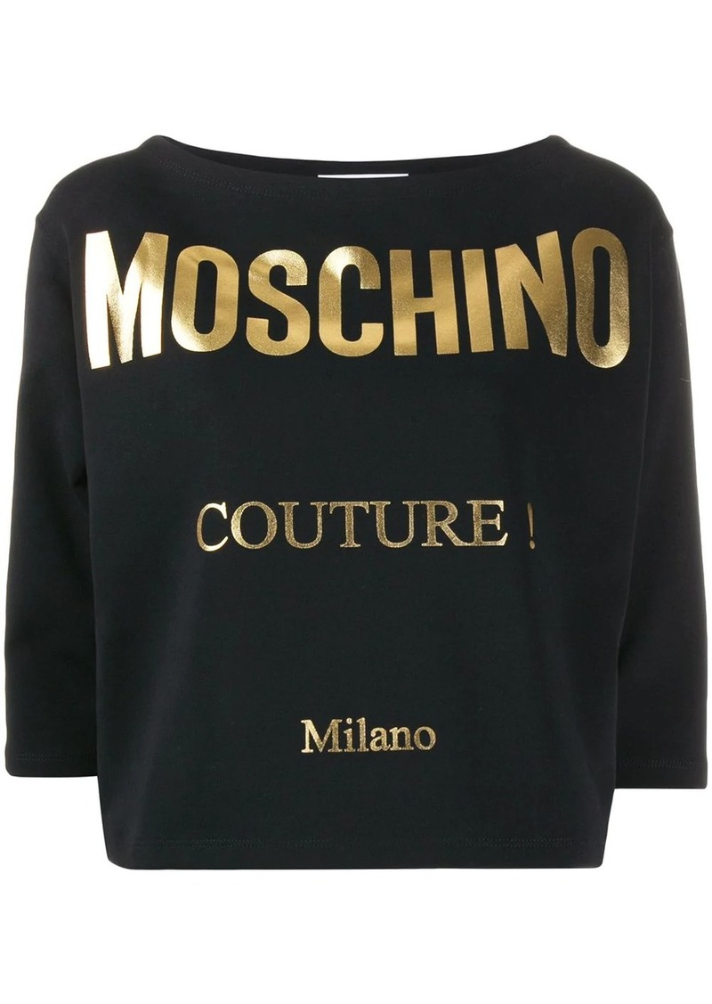 Moschino gold printed T-shirt