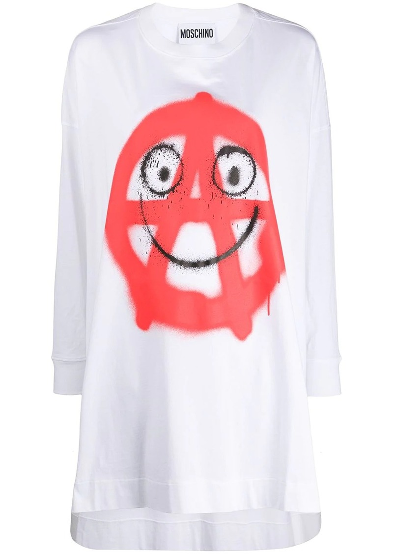 Moschino graphic T-shirt dress