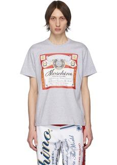Moschino Grey Budweiser Edition Logo T-Shirt