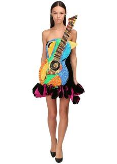 Moschino Guitar Velvet Mini Dress