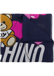 Moschino heart print silk scarf