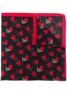 Moschino heart teddy logo scarf