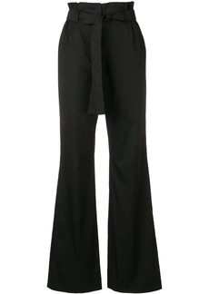 Moschino high-waist belted trousers