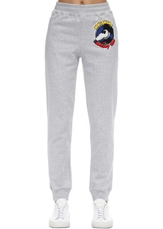 Moschino High Waist Cotton Jersey Sweatpants
