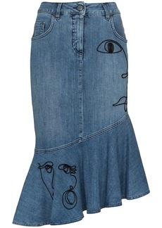 Moschino high-waisted embroidered skirt