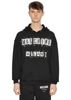 Moschino Hooded Logo Patch Sweatshirt W/ Pins
