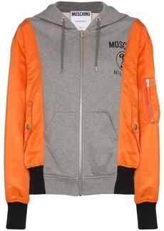 Moschino contrasting zipped hoodie